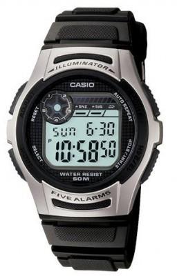 Casio gyermek karóra, W-213-1A, Sportos, Digitális, Műanyag