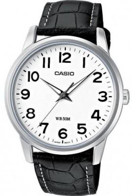 Casio Classic férfi karóra, MTP-1303L-7B, Klasszikus, Kvarc, Bőr