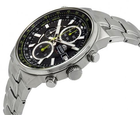 Orient Sporty Chronograph férfi karóra, FTT15001B0, Sportos, Kvarc, Nemesacél