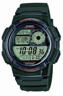 Casio World férfi karóra, AE-1000W-3AVEF, Sportos, Digitális, Műanyag